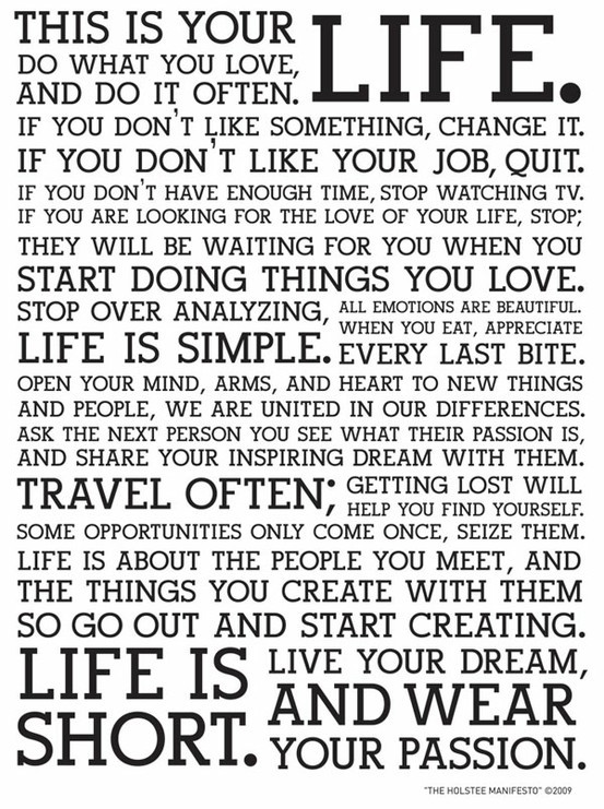 Live your DREAM, and wear your PASSION!